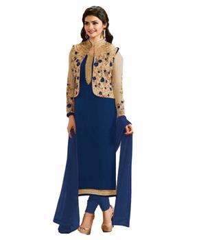 Prachi Desai Party Wear Semi Stitched Koti Jacket Style Salwar