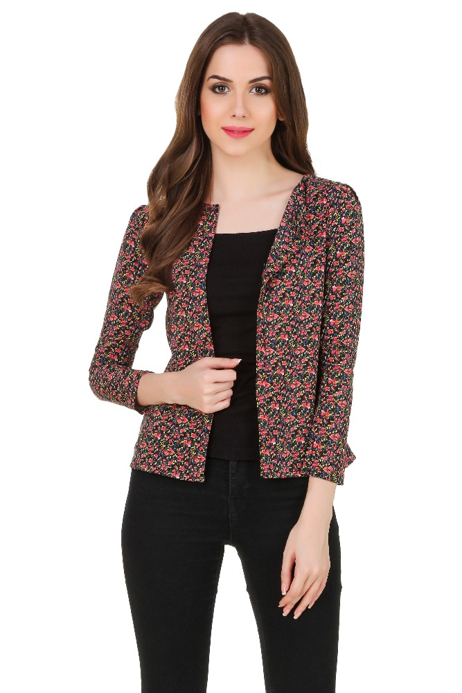 Buy now flower print fabric ladies tops images