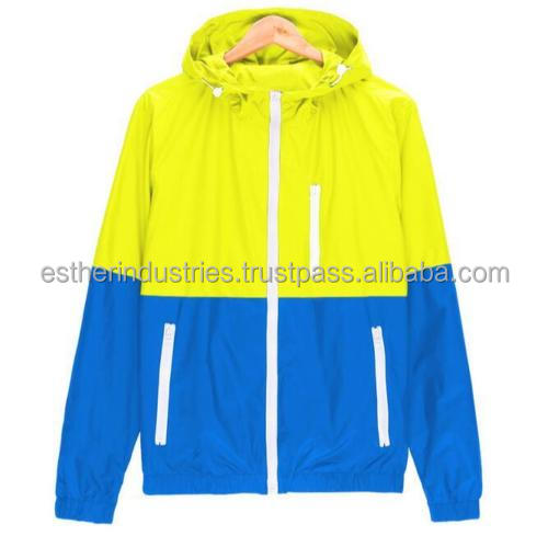 New Wholesale Color Block Half Zip Men's Pullover Hooded Windbreaker Jackets/New Fashion Jacket Men's Hooded Casual Jackets
