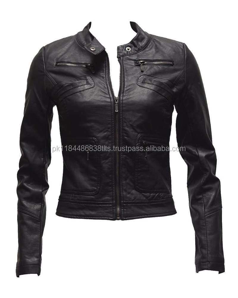 Casual lather jacket for motor bike