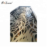 Customized aluminum decorative laser cut metal panels for hotel fence