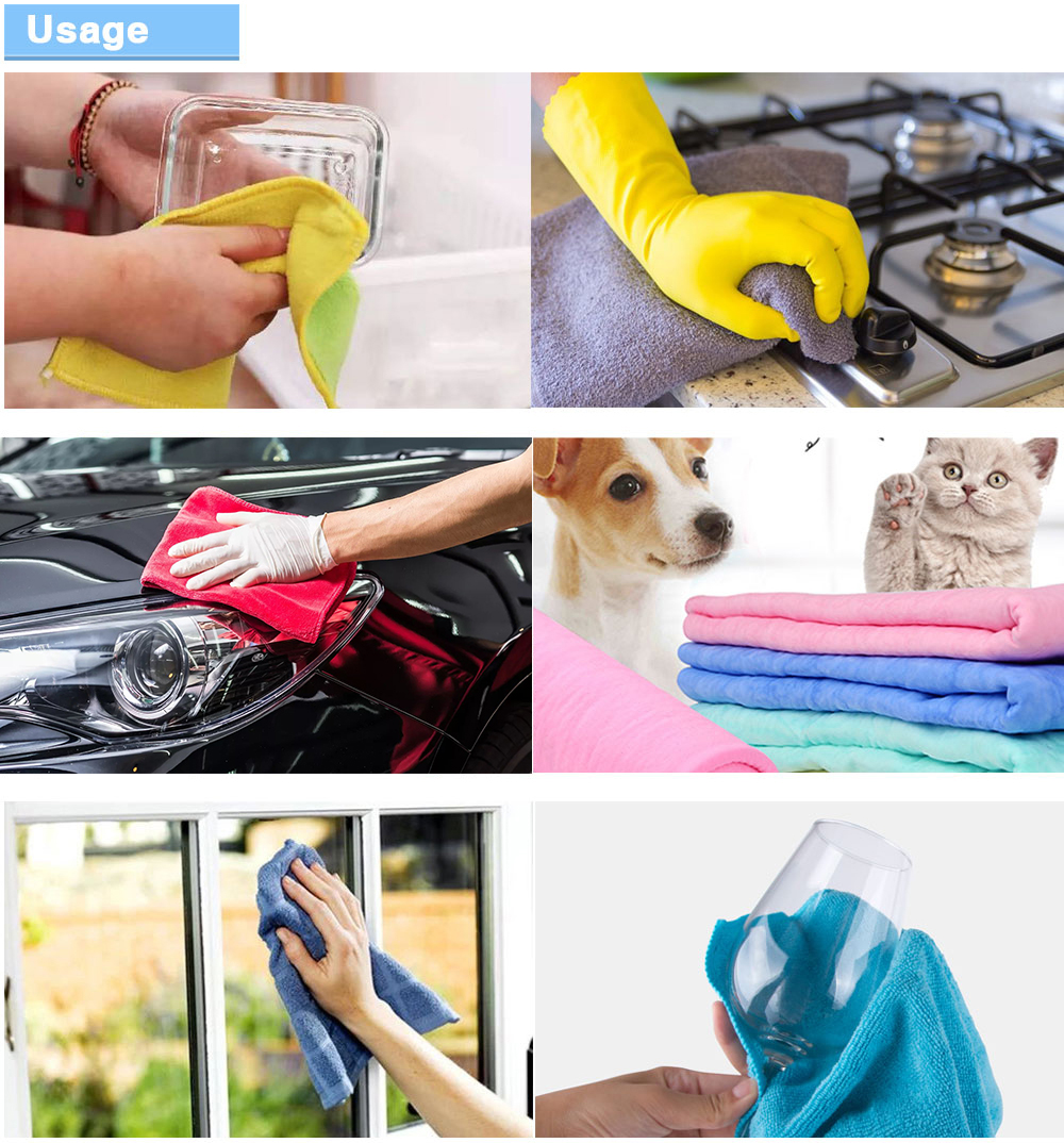 Wholesale custom home hotel rooms bathrooms and other microfiber duster cloth