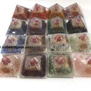Assorted Orgone Pyramid with Crystal Wand : Wholesale Orgone Pyramids