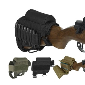 Hunting Shooting Tactical Rifle Cheek Rest Pad Ammo Pouch with 7 Shells Holder