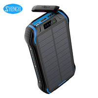 Wholesale High Quality Waterproof Type C Input Portable Battery Charger Custom Cheap Smart Solar Power Bank With Wireless Charge
