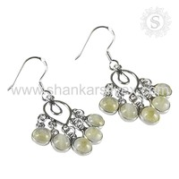 New wedding fashion rainbow moonstone designer earring silver jewelry 925 sterling silver wholesale jewellery store