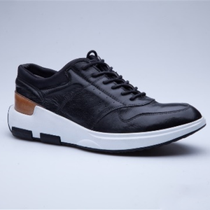 Genuine Leather Mens Custom Casual Sport Shoes Fashion Running Sneakers For Man