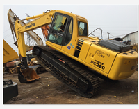 22 ton used Japan excavator Komasu PC220 at low price on sale
