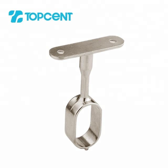 Zinc alloy hanging oval wardrobe rail tube holder center suspended support