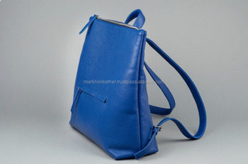 Wholesale Leather Mini Backpack  Blue Leather Backpack  Leather Tote Bag  Women  Bag  baac968a3