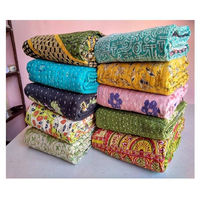Vintage Kantha quilt Quality Hand Stitching Reversible Wholesale Lot Cotton Kantha Quilt /Blanket / Throw / Bohemian / Bedspread