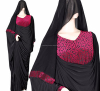 New RED BLACK Model Abaya in Dubai Women Muslim Dress Fashion Pakistani Burqa Designs