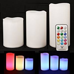 Frostfire Mooncandles Weatherproof Outdoor & Indoor Color Changing Candles with Remote Control & Timer, 3 Count by Frostfire