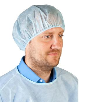 Disposable pp non-woven medical bouffant clip head cover surgical cap