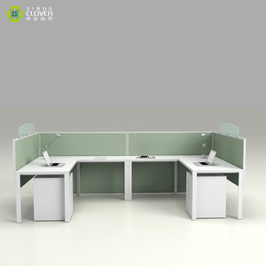 Space Saving High Quality Office Furniture 2 Person Office Workstation For Small Office