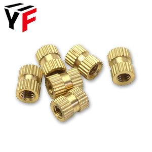 OEM All Type Fasteners M2 M3 M4 M5 M6 M8 Brass Knurled Insert Nut