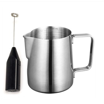 Stainless steel frothing cup coffee mug milk frothing pitcher turkish coffee cups