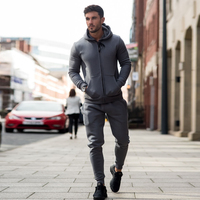 Men's Custom Fleece Tracksuit / Poly Cotton Slim Fit Joggers Suite