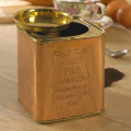 Brass Lid with Copper tea Canister | Coffee Storage box | Square Sugar Caddies