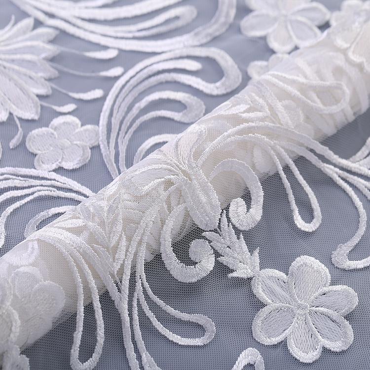 Wholesale Encajes Bordados Para Novias 100% Polyester Lace Fabric, For Fashion Wedding Gowns and New Season Design