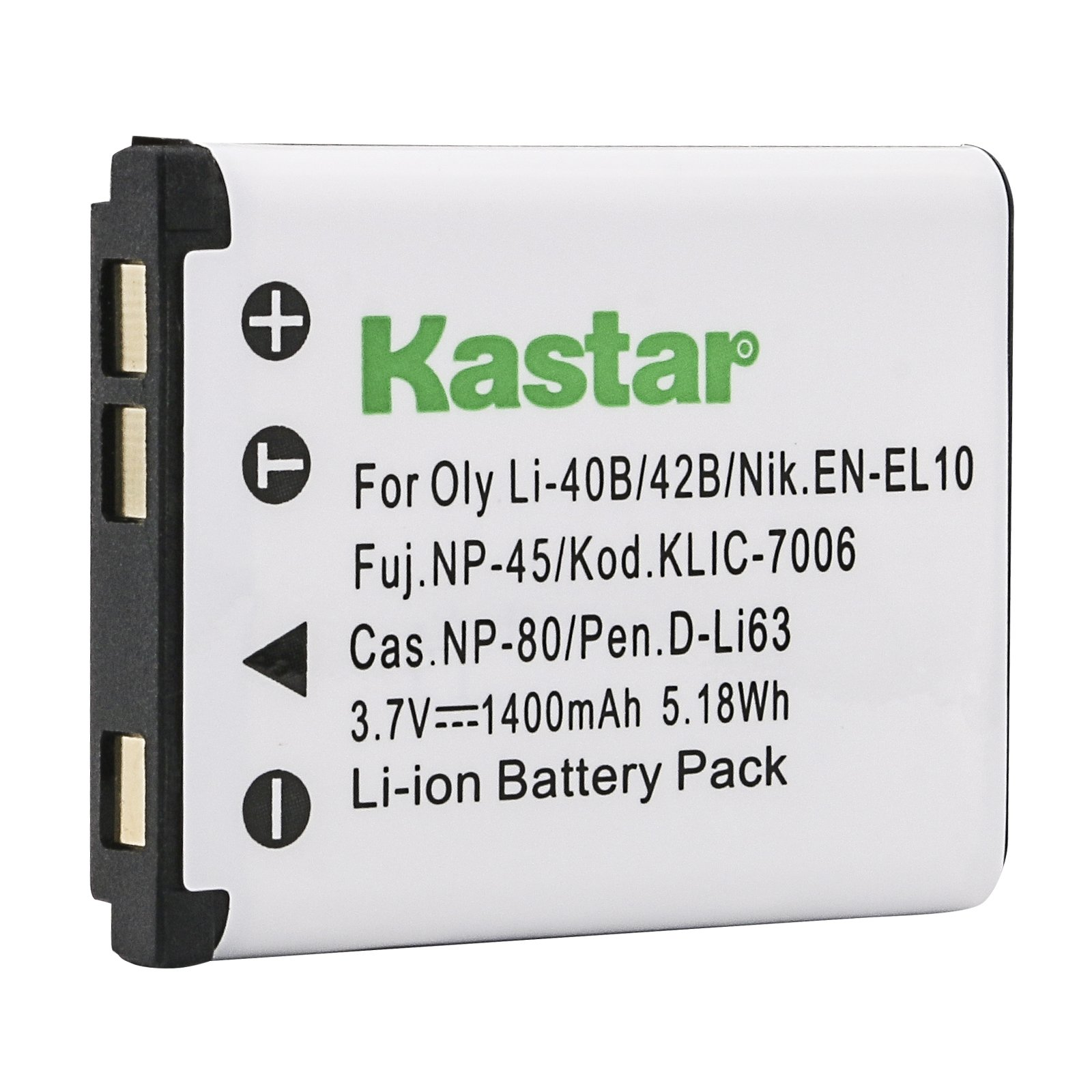 Kastar Battery for Kodak KLIC-7006 K7006 & EasyShare M22, M23, M200, M522, M530, M531, M532, M550, M552, M575, M577, M580, M583, M750, M873, M883, M5350, M5370, MD30, Mini, Touch digital camera