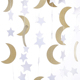 Moon and Stars Garland Gold Glitter Nursery Decoration Kids Party Decorations