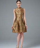 Women designer dress, Woven Silk dress, Party Outfits, Stunning brocade silk frock