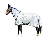 White colour Gallop mesh Fly Rug