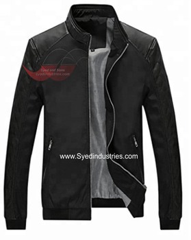 Leather Motorbike Jacket made with 100% Polyester Filling