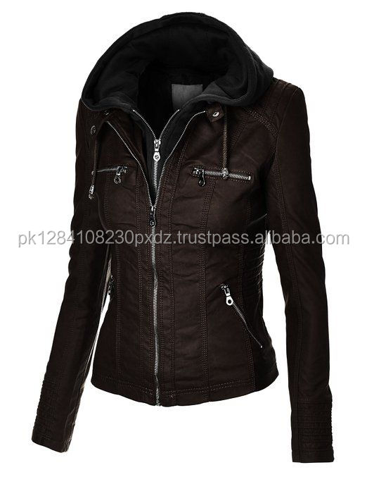 Women S Fashion Leather Jackets /girls Zipper Jacket New Design ...