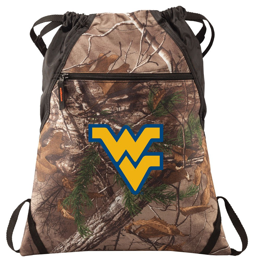 West Virginia University Cinch Pack REALTREE Camo WVU Backpack