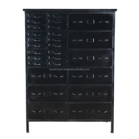 Indian Vintage Industrial Iron Metal Chest of Drawers Tool Cabinet