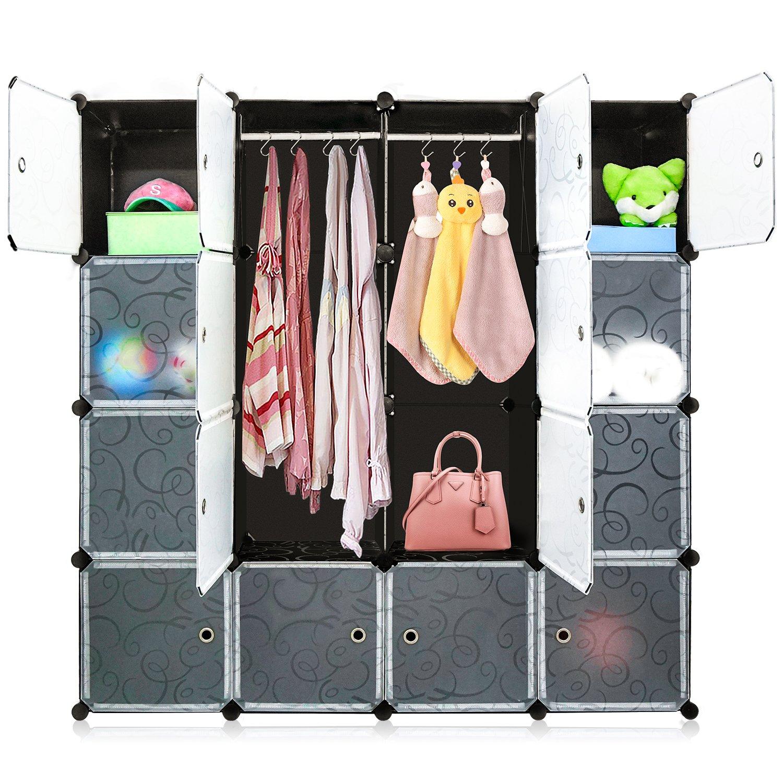 Get Quotations · DIY Cube Organizer, Multi Use Modular Shelving Storage,  Carttiya Closet Wardrobe With Translucent