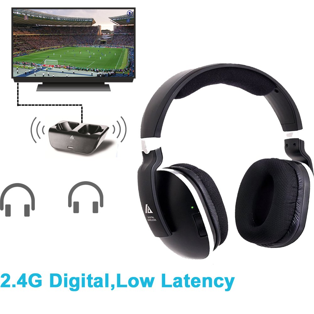 Cheap Wireless Headphones And Transmitter For Tv Find Receiver Infra Red Headphone Get Quotations With Rf Netflix Hulu Watching Listening Digital Over
