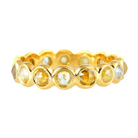18kt Yellow Gold Ice Diamond Designer Bands Rings Wholesale Jewelry