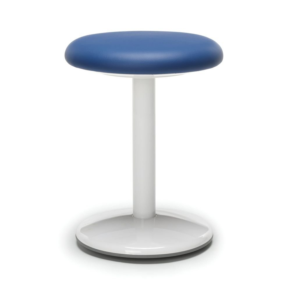 "Active Vinyl Stool 18""H Blue Vinyl Dimensions: 18""H x 13"" Diameter Weight: 9 lbs"