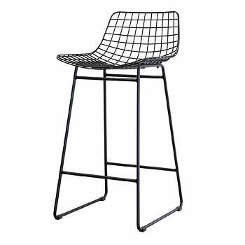 BLACK COLOR HOTEL /BAR WIRE CHAIR