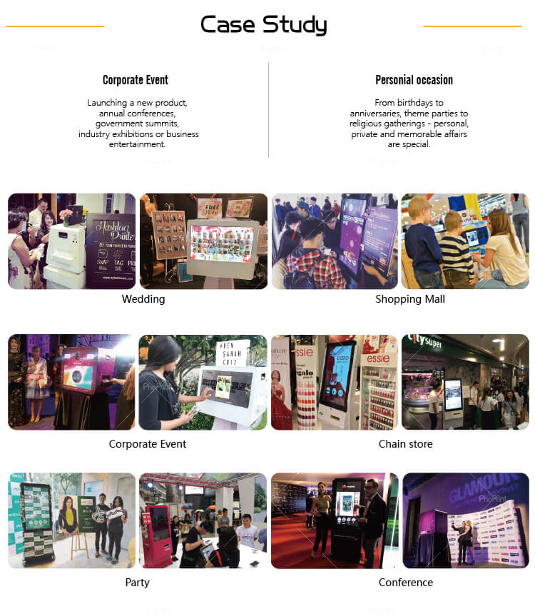 Advertising Player Photo Booth Kiosk Shell Case Enclosure Customization, OEM/ODM Service
