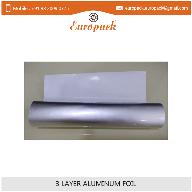 Standard Quality Anti Abrasive Grade 3 Layer Aluminum Foil Roll for Sale