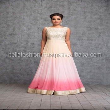 Modern Beautiful Pink Color Heavy Embroidery And Mirror Worked ...