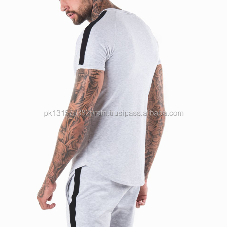 Hohe Ranking Casual Männer Block Farbe T-shirts/100% Baumwolle t shirts