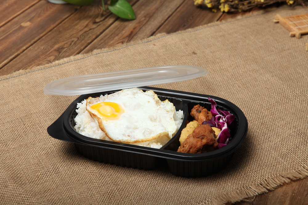 Dispossble Plastic Blister Polypropylene To Go Microwaveable Food Trays