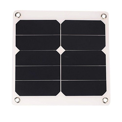 TOOGOO(R) 2A 10W 5V Solar Power Panel External Mobile Phone Battery sun panel Charger with USB Port solar cell for phone charging