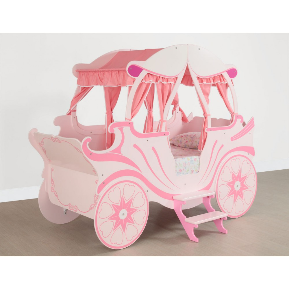 Princess carriage toddler bed - Children Wooden Princess Carriage Bed