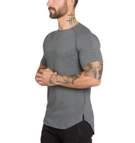 6ccc4198 men quality t-shirt with round bottom style fit body short sleeve shirts