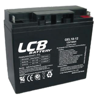 LCB GEL18-12 Deep Cycle Battery For UPS/Telecommunication 12V 18AH Long Life And Deep-Discharge performance