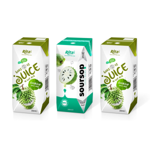 Aseptic Pack 200ml NFC Soursop Juice Drink for Kids Soursop Fruit Juice 200ml