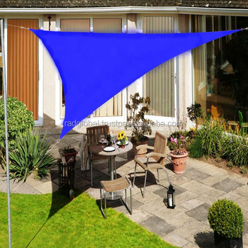 3 Meter Triangle Blue Color Outdoor Garden Sun Shade Sail