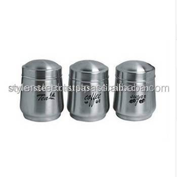 Tea/Coffee/Sugar Printing Stainless Steel Canister