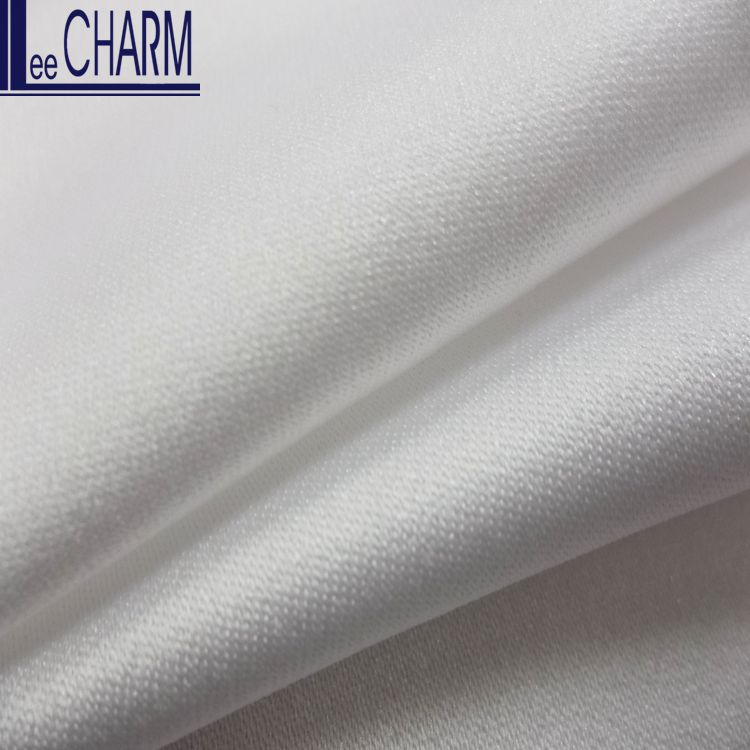 CS630R Taiwan Recycled Polyester Shine Satin Bridal Fabric